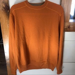 Pronto uomo crew neck cashmere sweater medium